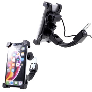 Universal Motorcycle Motorbike Mount Holder Handlebar Bracket Stand for 4-6 inch Smartphone