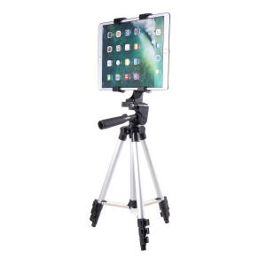 3110 Aluminum Retractable Tablet Tripod Holder with Tablet Clamp, Clamp Width: 123-200mm