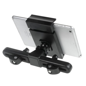 Universal Rotary Car Headrest Holder Mount for iPad / Galaxy Tabs, Width: 12-19.5cm