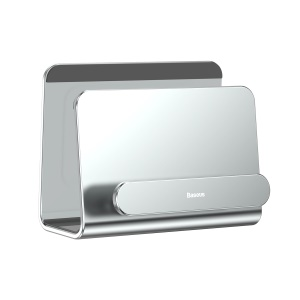 BASEUS Aluminum Alloy Wall-mounted Two-phone Holder Stand - Silver