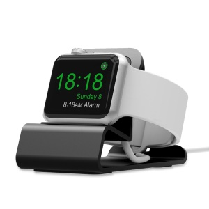 Aluminum Alloy Charging Station Dock Holder Stand for Apple Watch Series 4/3/2/1 - Grey
