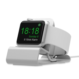 Aluminum Alloy Charging Station Dock Holder Stand for Apple Watch Series 4/3/2/1 - Silver
