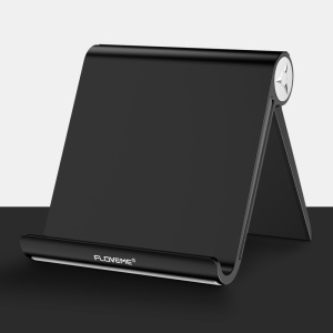 FLOVEME Universal ABS Adjustable Desktop Stand Holder for Smartphone / 12.5 inch Tablet - Black