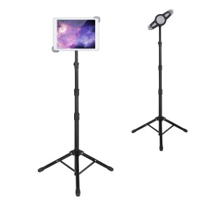 Aluminum Alloy Tablet Tripod Holder Retractable Stand for 7.9 - 12 Inch Tablets