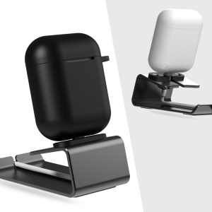 Aluminium Alloy Phone Charge Bracket Charging Dock Station Stand for AirPods/iPhone - Grey