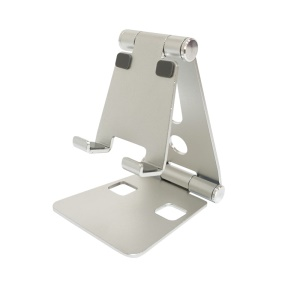 Universal Aluminum Alloy Desktop Stand for 7 inches Smartphone and Tablet - Silver