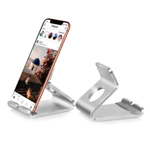 Portable Aluminum Alloy Desktop Phone Holder 7 Inch Tablet Stand - Silver
