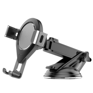 Car Phone Holder Stand New Suction Cup Type Gravity Creative Adjustable Telescopic Car Phone Mount - Grey