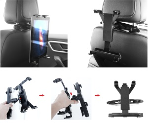 Universal Car Seat Headrest Mount Holder for 7-12 inch Tablet PC