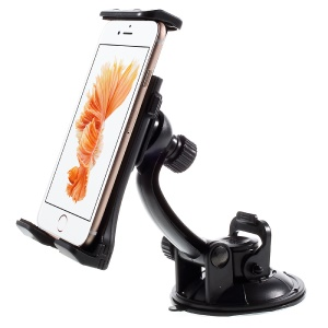 Universal Rotating Suction Cup Car Holder Mount for iPhone 6 Plus / iPad Air 2, Vertical Range: 110-180mm