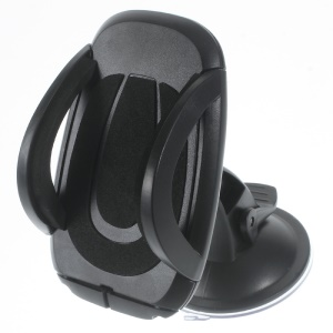 360 Degree Rotary Suction Cup Car Mount for Samsung Note5, Width: 50-100mm - Black
