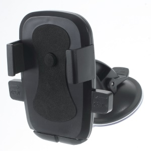 360 Degree Rotary Car Suction Cup Mount for Samsung Note5, Width: 58-81mm - Black
