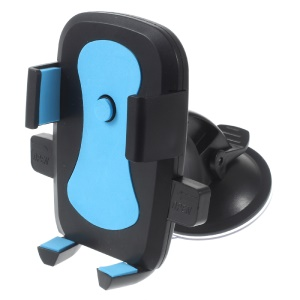 360 Degree Rotary Car Suction Cup Mount for Samsung Note5, Width: 58-81mm - Blue
