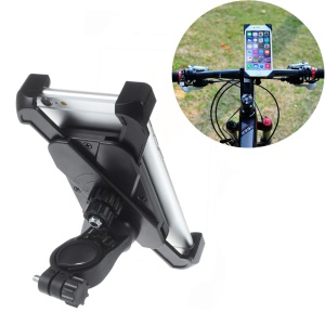 Universal Bicycle Bike Handlebar Holder Mount for iPhone 6s Plus/Samsung Galaxy S6 (CH-01-A) - Black
