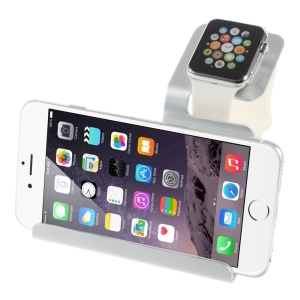 Aluminum Alloy Stand Charging Cradle for Apple Watch iPhone iPad - White