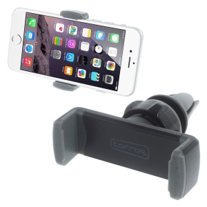 TORRAS Air Vent Car Mount Cradle for iPhone 6s/Samsung S7, Width: 56-87mm - Grey