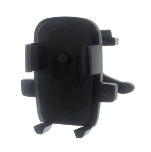 K6 Car Air Vent Rotary Holder Stand for iPhone 6s Plus/ Samsung Galaxy S7, Size: 60-90mm - Black