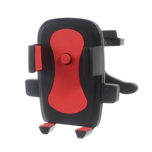 K6 Car Air Vent Rotary Holder Stand for iPhone 6s Plus/ Samsung Galaxy S7, Size: 60-90mm - Red