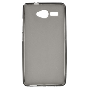 Double-sided Frosted TPU Shell Case for ZTE Blade L3 - Grey