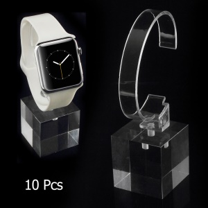 10Pcs/Lot Clear Acrylic Bracelet Watch Display Stand Holders