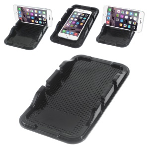 Sticky Dual-slot Car/Desk Non-slip Mat Phone Holder for iPhone 6s/Samsung S7 Etc