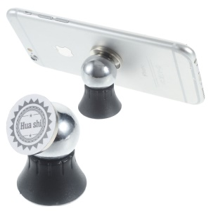 Mini Magnetic Car Mount Cradle Holder Kit for iPhone Samsung Smartphone - Black