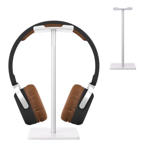 NEW BEE Simple Style Headphone Stand Mount for Universal Headsets - Silver