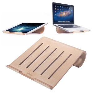 SAMDI Wood Heat Dissipation Desktop Stand Holder for iPad Macbook Galaxy Tab etc - Khaki