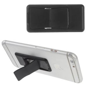 Multi-function Holder Grip Mini Table Stand for iPhone Samsung Sony (Pattern Customized) - Black