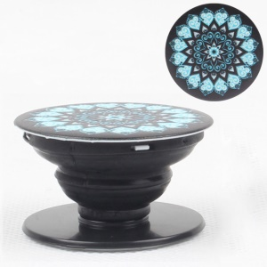 Universal Stretchable Phone Stand Finger Grip Cord Winder for iPhone Samsung Sony - Mandala Pattern