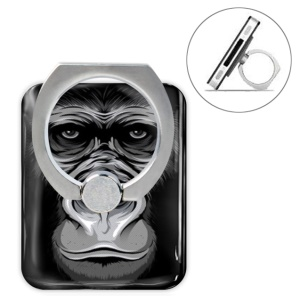 Animal Head Series Metal Ring Holder 360 Degree Rotation Stand - Gorilla