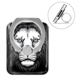 Animal Head Series Metal Ring Holder 360 Degree Rotation Stand - Lion
