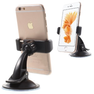 Suction Cup Car Mount Holder for iPhone 6s /Samsung S7 edge, Width: 55-90mm (C90+H25)
