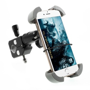 Universal Rotary Bicycle Mount Phone Holder for iPhone Samsung, Clamp Range: 115-175cm C84+H78