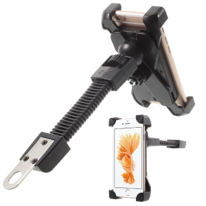 Motorcycle Rearview Mirror Rotary Stand Mount for Smartphone GPS PDA etc