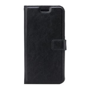 Crazy Horse Wallet Leather Stand Case for ZTE Axon 7 - Black