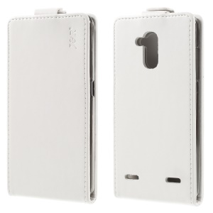 J&R Crazy Horse Vertical Flip Leather Cover for ZTE Blade V7 Lite - White
