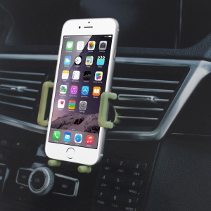 Universal Air Vent Car Mount Holder for iPhone 6s/Samsung S7, Width: 55-93mm (C81+H79-3)