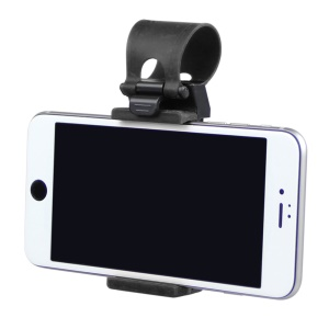 HAT PRINCE Car Steering Wheel Stand Holder for iPhone 6s Plus, Height: 55-80mm - Black