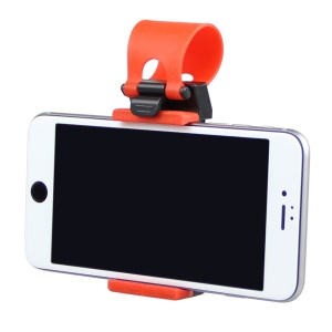 HAT PRINCE Car Steering Wheel Mount Stand for iPhone 6s Plus, Height: 55-80mm - Orange