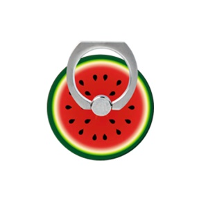 Fresh Fruit Pattern Finger Ring Kickstand Cable Winder for iPhone iPad etc - Watermelon