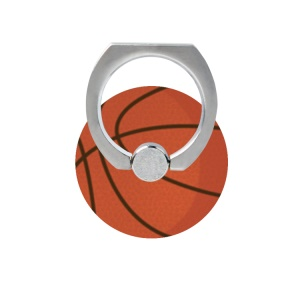 Fresh Fruit Pattern Finger Ring Kickstand Cable Winder for iPhone iPad etc - Basketball