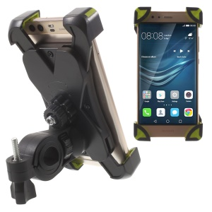 Bicycle Handlebar Mount Holder Bracket for iPhone Samsung etc, Clamp: 180 x 92mm (Max) - Green