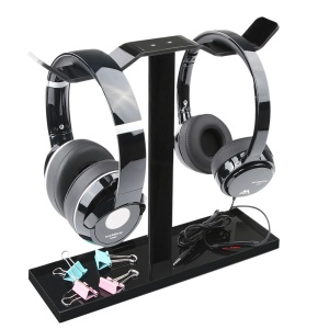 MOCREO Multipurpose Dual Hanger Headphone Stand Acrylic Cellphone Tablet Holder