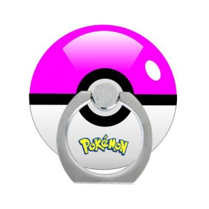 Pokemon Go Poke Ball Ring Kickstand Cable Winder for iPhone iPad etc - Rose