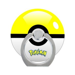 Pokemon Go Poke Ball Ring Kickstand Cable Winder for iPhone iPad etc - Yellow