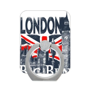 Desktop Stand Finger Grip Holder for Smartphone Tablets - London Buildings