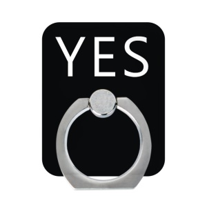 Valentine Couple Series Finger Ring Kickstand Phone Holder Stand for iPhone Samsung - Yes