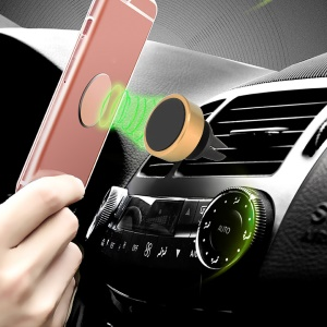 Magnetic Air Vent Car Holder 360-Degree Rotation for iPhone Samsung GPS - Gold