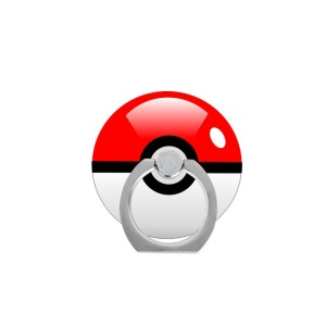 Pokemon Go Poke Ball Phone Ring Holder Kickstand for iPhone Android Smartphone - Red